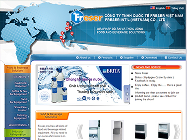 Thiết kế website điện máy : CÔNG TY TNHH QUỐC TẾ FRESER VIỆT NAM