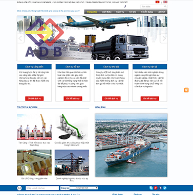 Thiết kế website vận chuyển: adbjsc