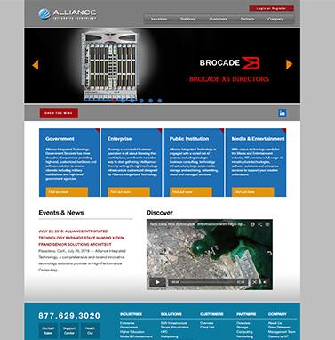 Thiết kế website công nghệ: Allianceitc