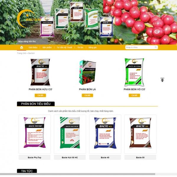 Thiết kế website phân bón: CÔNG TY CỔ PHẦN QUỐC TẾ BACTERI