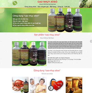 Thiết kế website: cao nhụy astisô