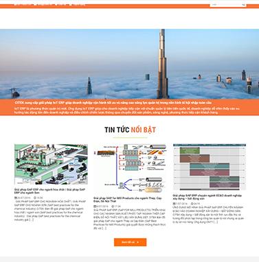 Thiết kế website ERP: CITEK