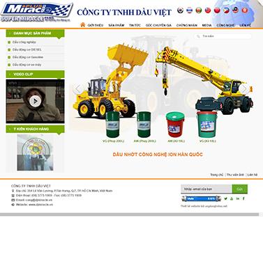 Thiết kế website dầu khí: CÔNG TY TNHH DẦU VIỆT