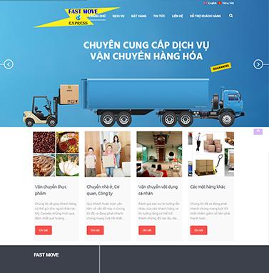 Thiết kế website vận chuyển: fastmove