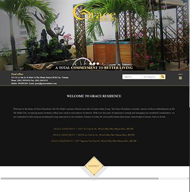 Thiết kế website bất động sản: Graceresidence