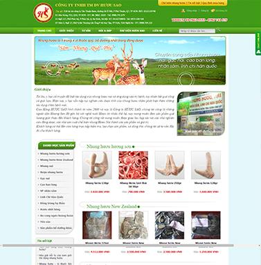 Thiết kế website bán hàng : HƯƠU SAO