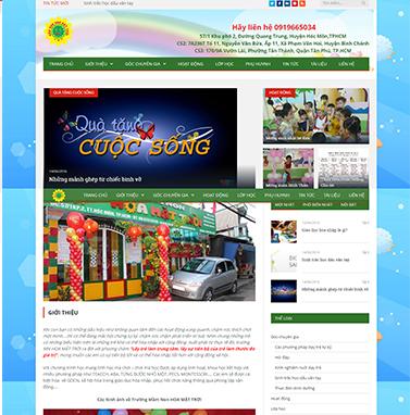Thiết kế website TRƯỜNG MẦM NON HOA MẶT TRỜI