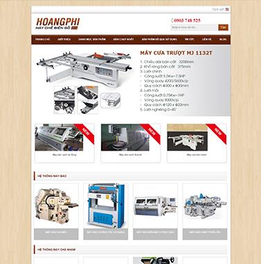 Thiết kế webiste: Cơ sở Máy chế biến gỗ Hoàng Phi
