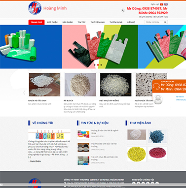 Thiết kế website: Nhựa hoàng minh