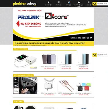 Thiết kế website điện máy: CÔNG TY CỔ PHẦN PHỤ KIỆN SỐ HÓA