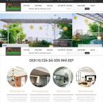 Thiết kế website xây dựng: Sài Gòn Nhà Đẹp