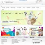 Thiết kế website mỹ phẩm: scperfume