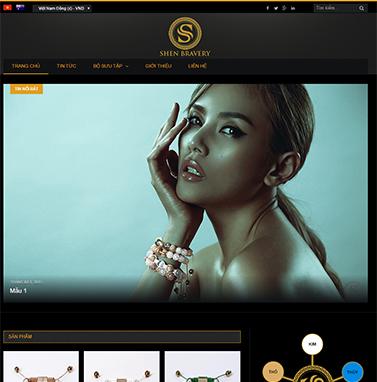 Thiết kế website vòng tay: SHEN BRAVERY