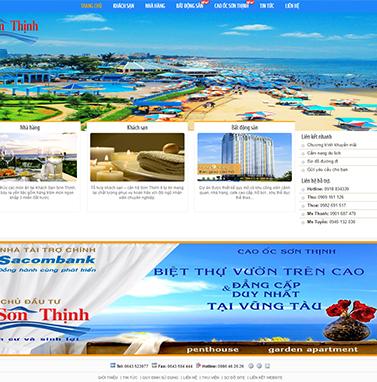 Thiết kế website khách sạn: Sơn Thịnh Hotel