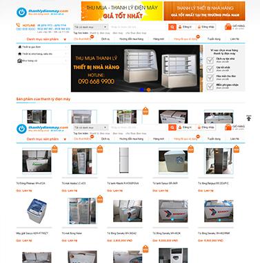 Thiết kế website điện máy: Thanh lý điện máy