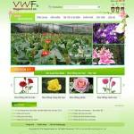 Thiết kế website cửa hàng hoa: Thế giới hoa việt