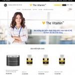Thiết kế website mỹ phẩm The Vitamin USA