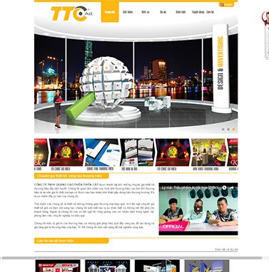 Thiết kế website cơ khí và in ấn: THIÊN THIÊN CÁT